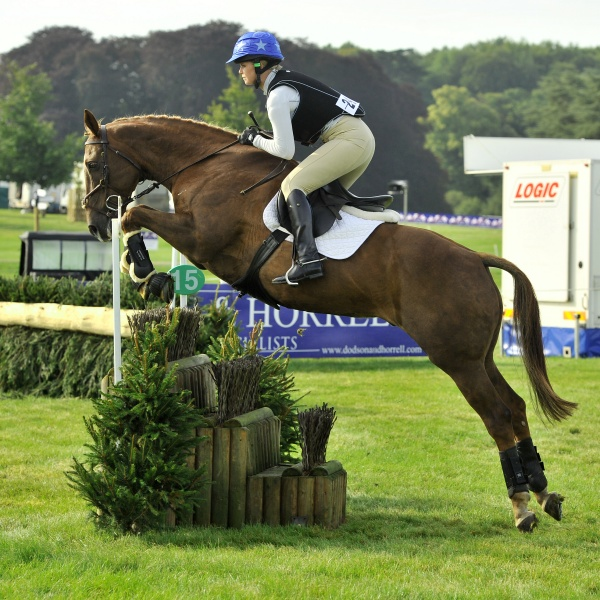 Melanie and Tommy at Blenheim International Horse Trials